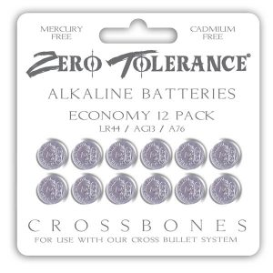 Crossbones LR44 Alkaline Batteries