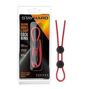 Stay Hard Silicone Double Loop Cock Ring